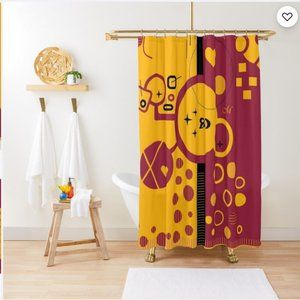 Lady Bird_ Shower Curtain